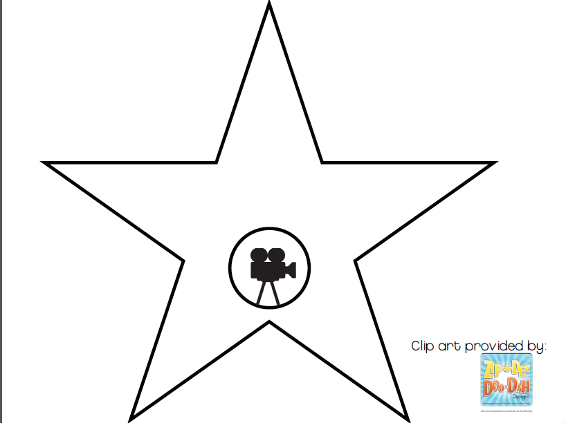 Luscious image regarding hollywood star template printable